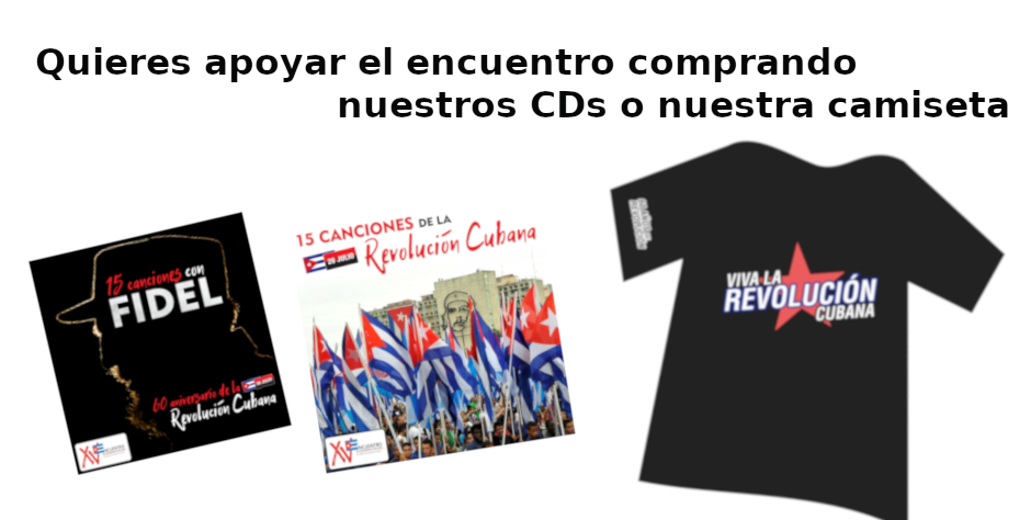 A la venta CDs y camisetas de apoyo al Encuentro de Cuba